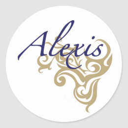 Alexis Classic Round Sticker