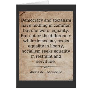 Alexis de Tocqueville Card