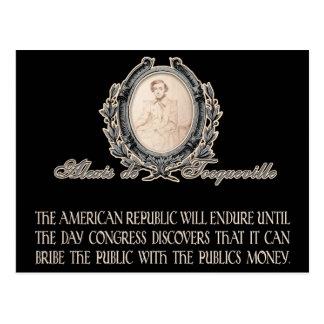 Alexis de Tocqueville Quote: America's Lifetime Postcard