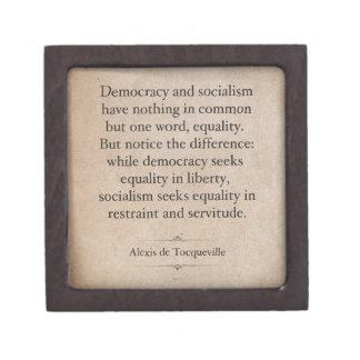 Alexis de Tocqueville Quote Gift Box