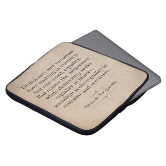 Alexis de Tocqueville Quote Laptop Sleeve