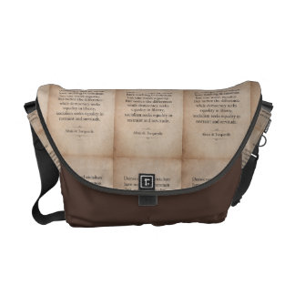 Alexis de Tocqueville Quote Messenger Bag