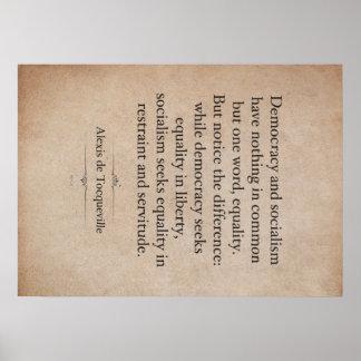 Alexis de Tocqueville Quote Poster