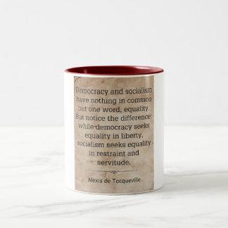 Alexis de Tocqueville Two-Tone Coffee Mug