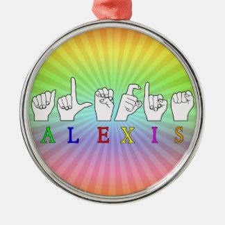 ALEXIS FINGERSPELLED ASL SIGN NAME FE MALE ORNAMENT