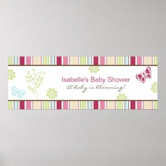 Alexis Garden Baby Shower Banner Poster