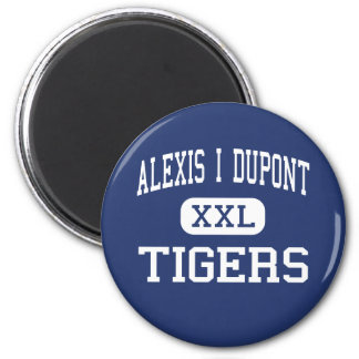 Alexis I Dupont Tigers Middle Wilmington 2 Inch Round Magnet