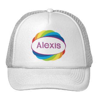 Alexis in rainbow trucker hat