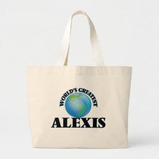Alexis más grande del mundo bolsa lienzo