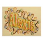 Alexis - name card post card