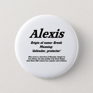 Alexis. Name meaning Button