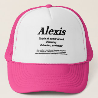 Alexis. Name meaning cap