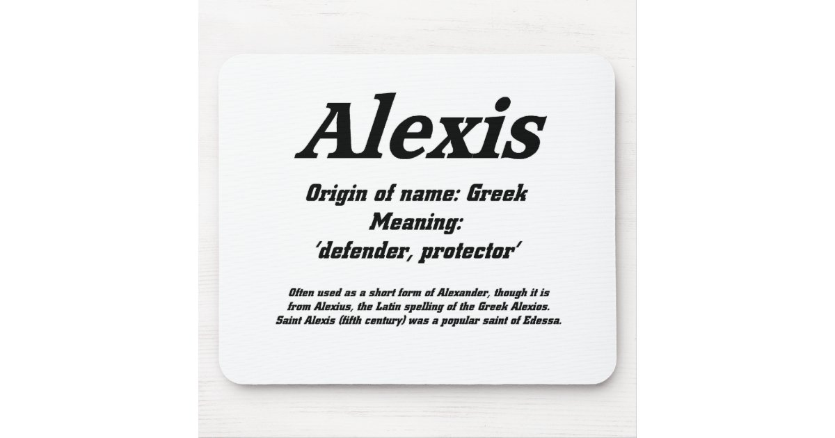 Alexis Name Meaning Mouse Pad Zazzle Com