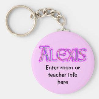 Alexis Name Tag Key Chain