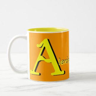 Alexis personalizó la taza