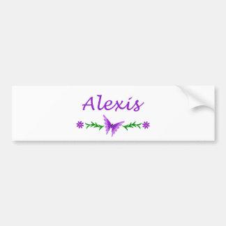 Alexis (Purple Butterfly) Bumper Sticker