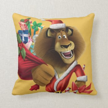 Alex's Holiday Presents Throw Pillow by madagascar at Zazzle