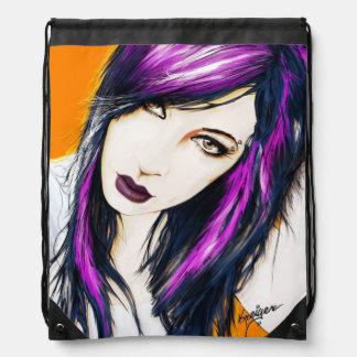 Alexx-orange Draw Sting Bag