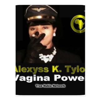 Alexyss K. Tylor Vagina Power™ en Nubia verdadero Postal