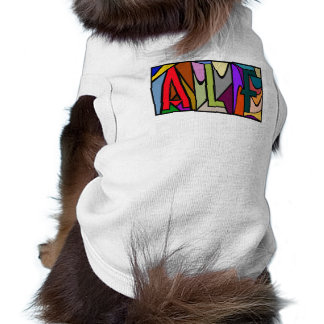 ALF ~ PERSONALIZED LARGE LETTER PET-WARE FOR DOGS! DOGGIE TEE SHIRT