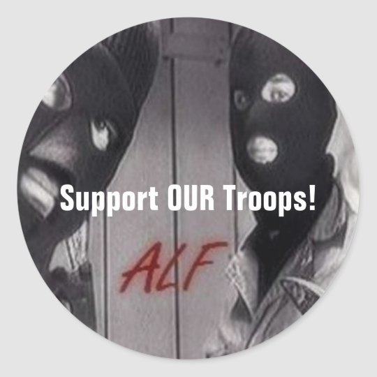 ALF - Support OUR Troops! Classic Round Sticker