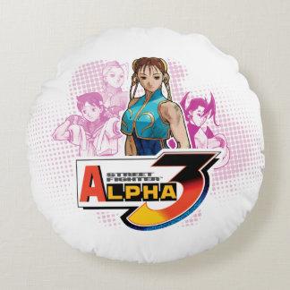 Alfa 3 Femme Fatale 2 de Street Fighter Cojín Redondo