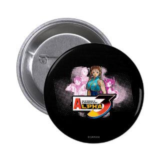 Alfa 3 Femme Fatale de Street Fighter Pin Redondo 5 Cm