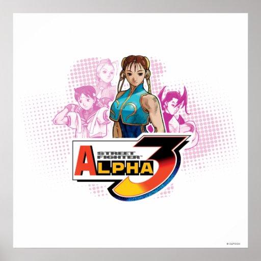 Alfa 3 Femme Fatale de Street Fighter Poster