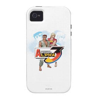 Alfa 3 Ken y Ryu de Street Fighter iPhone 4/4S Funda