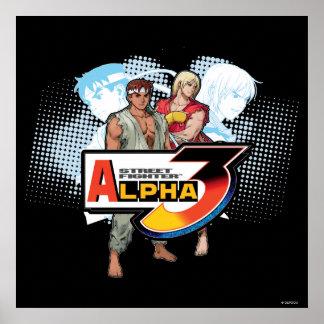 Alfa 3 Ken y Ryu de Street Fighter Póster
