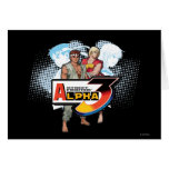 Alfa 3 Ken y Ryu de Street Fighter Tarjeta De Felicitación