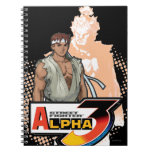 Alfa 3 Ryu y Akuma de Street Fighter Cuadernos