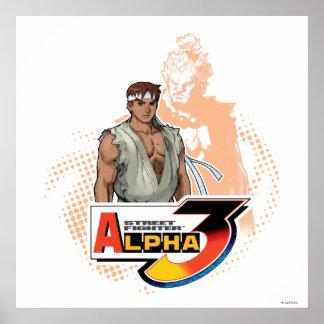 Alfa 3 Ryu y Akuma de Street Fighter Poster
