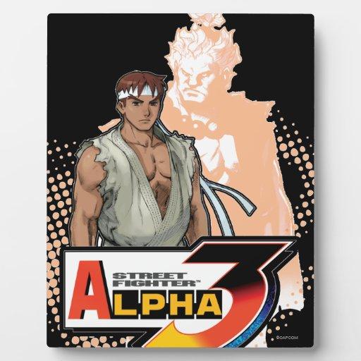 Alfa 3 Ryu y Akuma de Street Fighter Placas Para Mostrar
