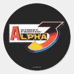 Alfa 3 Shadowloo de Street Fighter Pegatina Redonda