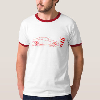 Alfa 916 Gtv from side - outline in red T Shirt
