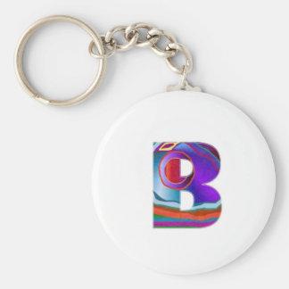 ALFA BBB del alfabeto Llavero Redondo Tipo Pin