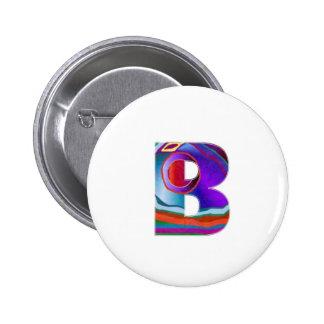 ALFA BBB del alfabeto Pin Redondo 5 Cm