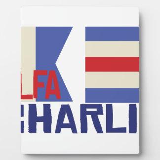 Alfa Charlie Plaque