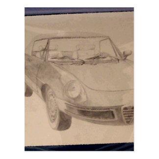 Alfa - CricketDiane Art Drawing Car Postcard