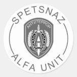Alfa de Spetsnaz Pegatina Redonda