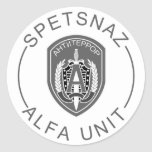 Alfa de Spetsnaz Pegatinas Redondas