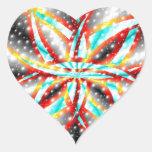 Alfa Pegatina En Forma De Corazón