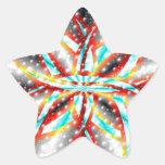 Alfa Pegatina En Forma De Estrella