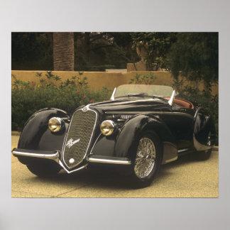 Alfa Romeo 8C 2900B es un muy raro y muy Póster