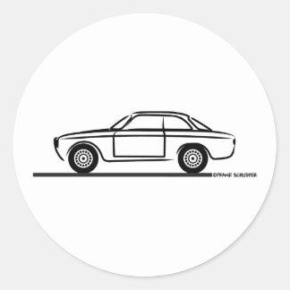 Alfa Romeo GTA GTV T-Shirt Classic Round Sticker