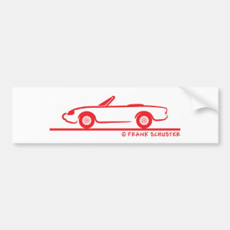 Alfa Romeo Spider Duetto Bumper Sticker