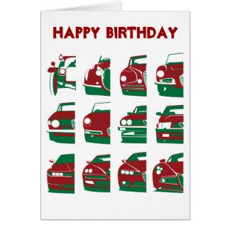 Alfa Romeo - tarjeta de cumpleaños
