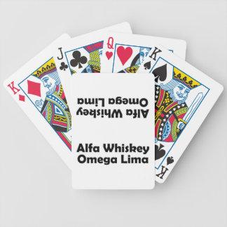 Alfa Whiskey omega Lima AWOL Baraja De Cartas