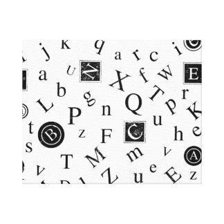 Alfabeto ABC Lona Envuelta Para Galerías